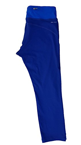 Nike Womens Printed Racer Crop 2.0 Capris Deep Royal Blue