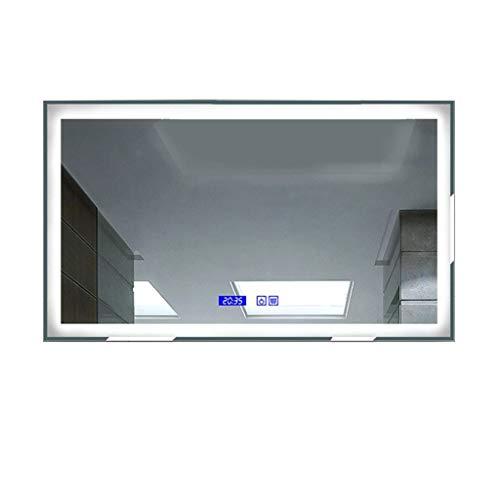 immerspiegel, Kosmetikspiegel LED Beleuchtet Touchscreen-Schalter Modernes Intelligentes Design Anzug für Hotels (Color : 80cmx60cm) ()