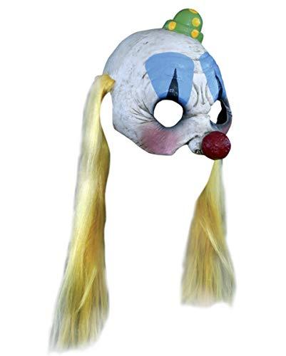 Pogo der Horror Clown Halbmaske mit ()