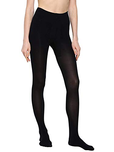 Shopolica Women's Pantyhose Stockings Stretch Sheer Tights High Waist Stocking (Black, XLarge)