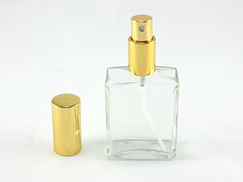 Home Fragrance Body Parfüm Spray (Skyway nachfüllbar 2Oz Parfüm Duft FLASCHE TSA geprüft Pumpe Zerstäuber Spray Reisegröße perfekt für Geldbörse und Reisen-Glas mit Gold Akzente)