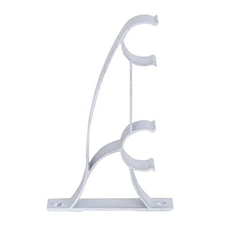 Sonline 2pcs Metal Tringles a Rideaux Double Poles Supports de Rideaux 25mm