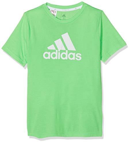 adidas Jungen TR Prime T-Shirt, Sholim, 128 (Stahl-jungen Shirt)