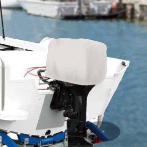 Telo di Copertura per Calandra Copri Motore Barca Gommone Nautica 30 60 HP Blu