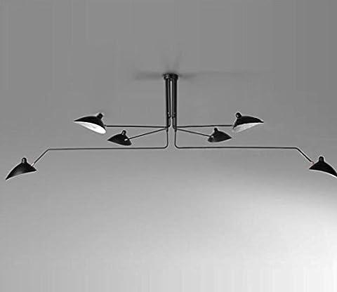 Griffe nordique fer cuivre pur universel Head 3 6 Lampe Lustre de plafond pour The Living room,étude,salle à manger,chambre à coucher,plafond , 6 Lights