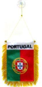 AZ FLAG Fanion Portugal 15x10cm - Mini Drapeau Portugais 10 x 15 cm spécial Voiture - Bannière