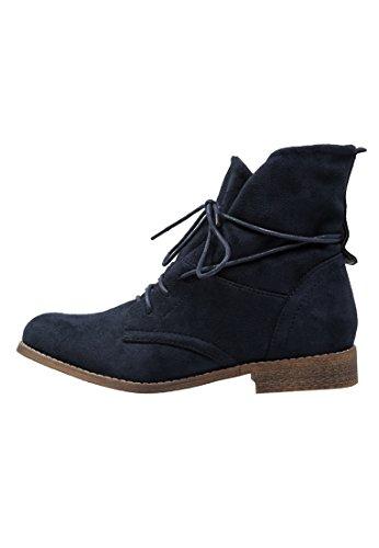 Stiefel Anna (Anna Field Stiefeletten für Damen zum Schnüren – Schnürstiefeletten in Blau,)
