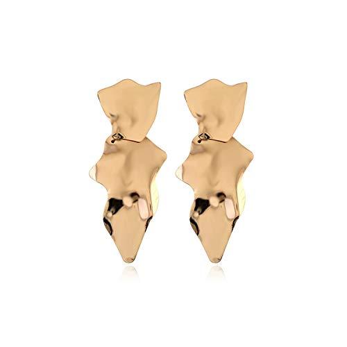 Unregelmäßige Metall Geometric Ohrringe für Frauen-Legierung Ohrringe große moderne Ohrringe Vintage-Schmuck, Gold -