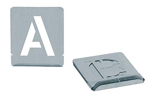 Turnus 327-250 Signierschablonen Set Buchstaben A-Z Schrifthöhe 27-teilig, 50mm