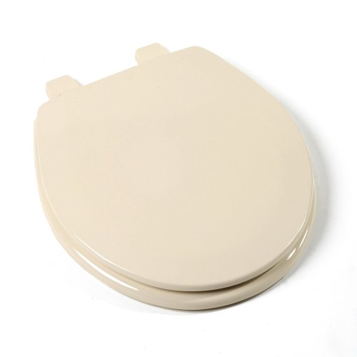 Comfort Seats C013WD03 Deluxe Molded Wood Toilet Seat, Round, Almond by Comfort Seats