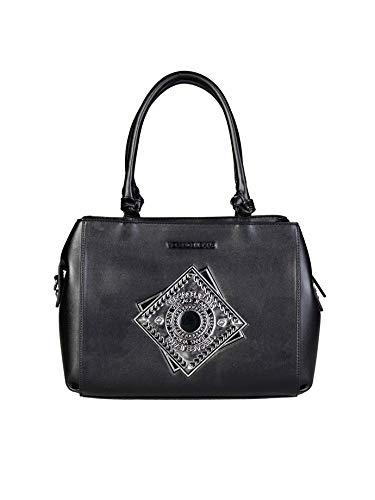 Versace Jeans E1VQBBA6_75425 Damen Handtaschen Leder Schwarz