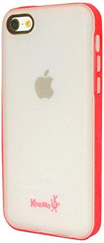 KHOMO® Clear Hybrid Case Premium Bumper in rosa mit glattem durchsichtigen Rücken für das Apple iPhone 5C - Rosa Rosa