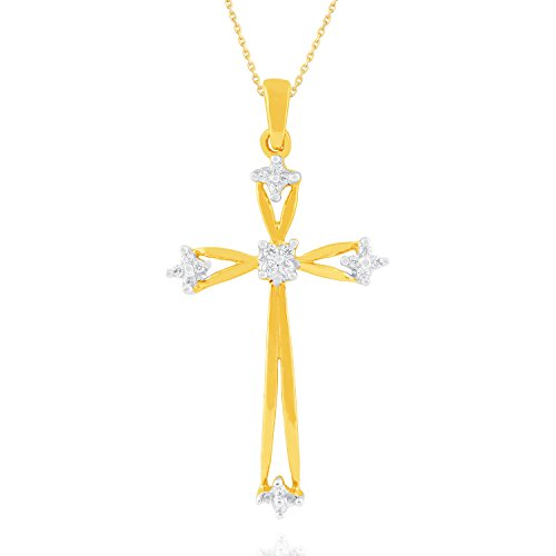 Giantti 14carats Diamant Pendentif Femme Collier (0.084CT, VS/Si-clarity, Gh-colour)