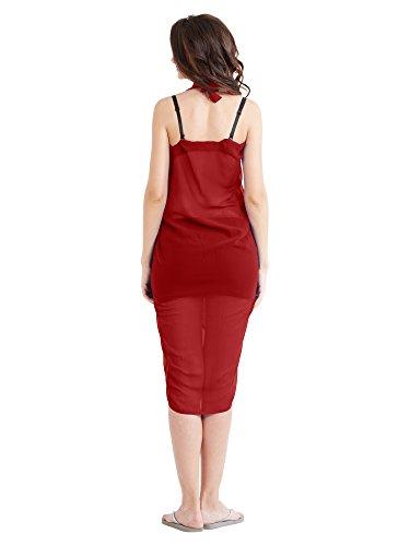 MirchiFashion - Copricostume -  donna rosso, grigio