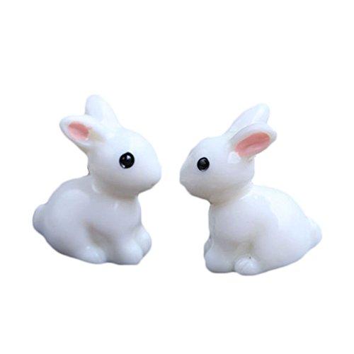 Ruikey 1Set mit Moos Micro Landschaft niedliche Kaninchen Deko-DIY, Outdoor, Garten, zu Hause, mit grün-Geschenk