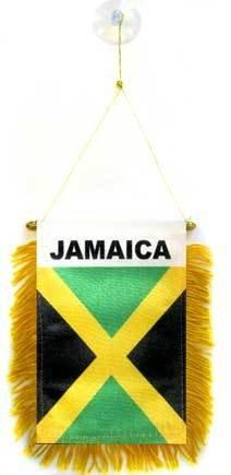 AZ FLAG Gagliardetto Giamaica 15x10cm con Ventosa - BANDIERINA per Auto GIAMAICANA 10 x 15 cm