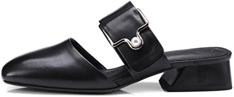 CJC Escarpins    s Fermé Doigt de Pied Milieu Talon Dames Femmes Cuir Chaussures du Quotidien Portant (Couleur...B07D5XD8JMParent 2c5cd4