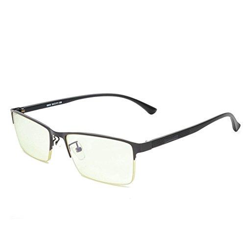 Damen Herren Brille Quadrat mit Fensterglas - Juleya Schutzbrillen Brillenfassung Metall Frame Transparente Linsen Brille für Lesen/Arbeiten/Unterhaltung (Frame-schutzbrillen)