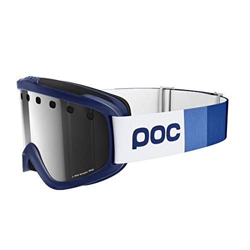 Poc iris stripes maschera da sci alpino, unisex – adulto, butylene blue, regular