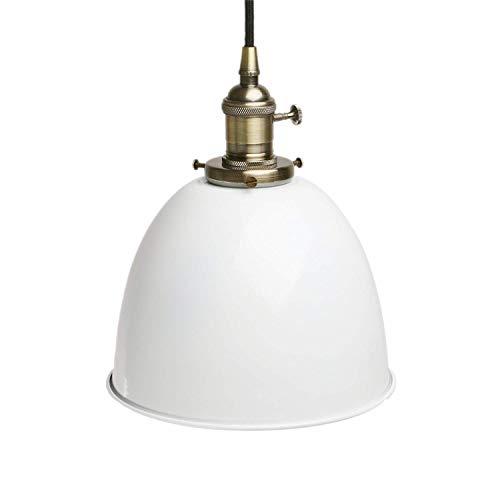 Industrial Vintage Loft Bar Kitchen Island Edison Metal Chandelier Hanging Pendant Ceiling Light Lamp Fixture Switch Lighting E27 (Varnish),White (Custom Switch Light)