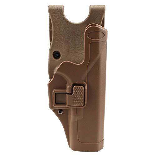 Gexgune Tactical Glock Militärische Verschleierung Stufe 2 Rechtshänder Paddel Gürtel Pistole Pistolenhalfter für Glock 17 19 22 23 31 (Tan) -
