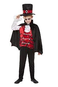 Smiffys 51053S - Disfraz de vampiro para niño, talla S, color negro