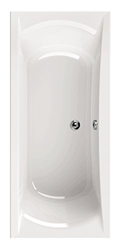 Acryl-Badewanne queDa, Badewanne, Acrylwanne, Bad, Badezimmer, Weiß, 180 x 80 cm