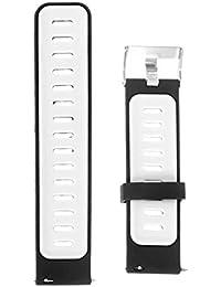 NICERIO Compatible para Samsung Gear s3 Banda de Reloj Correa de Reloj de Silicona reemplazo Simple Correa de Reloj Pulsera de Silicona Compatible para Samsung Gear s3 (Blanco y Negro)