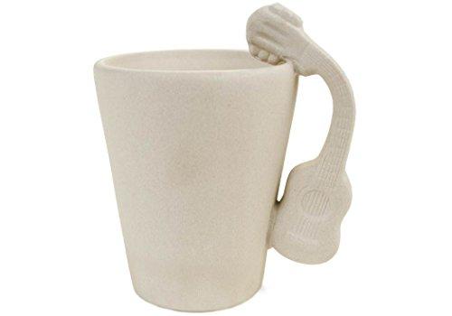 Imagen de  taza de café cerámica hecho a mano 8oz acústica sin pintar 10cm x 8cm
