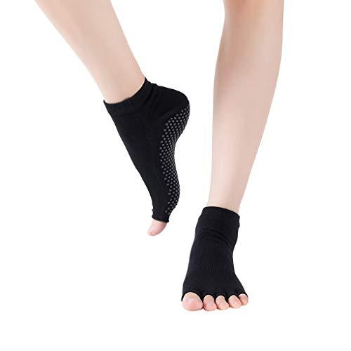Pageantry Calcetines de yoga para mujer, antideslizantes, con dedos separados, para ballet, para pilates, entrenamiento descalzo