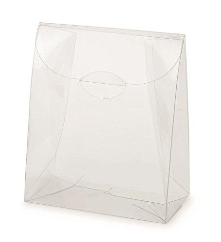 50 x scatola portaconfetti in plastica trasparente sacchetto 12391c