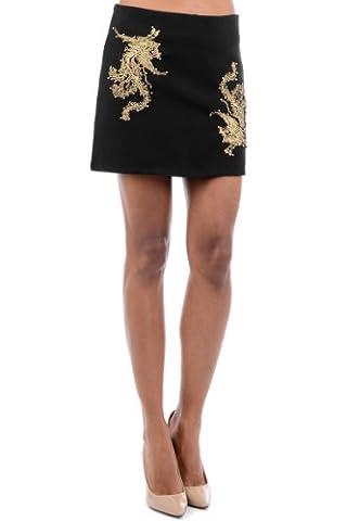 Black Mini Skirt with Gold DetailBlack Small - UK (8-10)