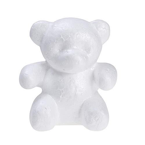 Chanhan Schaumstoffbären, Schaumstoffkugeln für Bastelarbeiten, Hochzeit, Party, Dekoration, Blumengestaltung, weiß, 15 cm