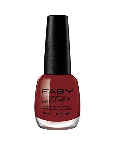 FABY-NÄGEL - Faby Diaries - KISS ME FABY Nagellack - Rot - Langlebig - 100% Vegan, Grausamkeit frei - 10-freier Nagellack - 15 ml - Nägel Me Kiss