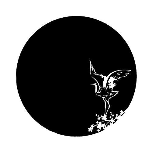 JXYY 16 CM * 16 CM Mode Sakura Ast Reiher Kunst Asiatischen Stil Vogel Vinyl Auto Aufkleber Aufkleber - Badezimmer Asiatische