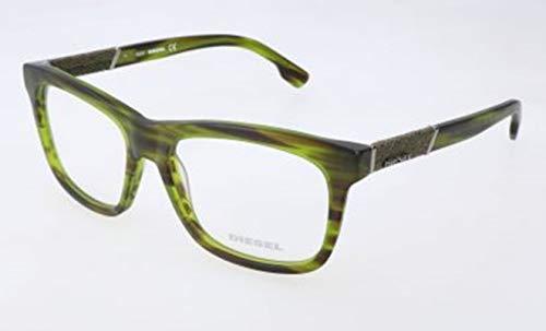 Diesel Unisex-Erwachsene DL5077 095-54-16-145 Brillengestelle, Grün, 54