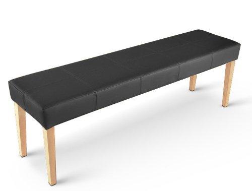 sam esszimmer sitzbank 145 cm in schwarz mit buche farbigen beinen aus pinien - Sitzbank Esszimmer Schwarz