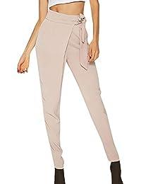 Pantalones harén para Mujer Otoño Invierno 2018 Moda PAOLIAN Casual  Pantalones Leggings Vestir Cintura Alta Señora 3ef9227ec27