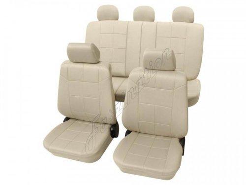 Preisvergleich Produktbild Faszination 1662, Autositzbezug Sitzbezug Schonbezug, Komplett Set, Beige Creme , passend für