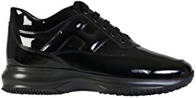 Hogan Mujer HXW00N00010OW0B999 Negro Cuero De Charol Zapatillas