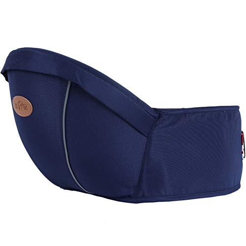 Happy Cherry - Portabebes Delantera Multiples Posiciones Diseño Erogonómico Cintura Ajustable con Bolsillo Lateral Transpirable Cómodo para bebé de 4-36 meses - Azul Oscuro