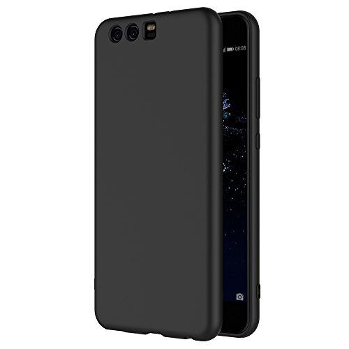 Cover per Huawei P10 Plus, AICEK Cover P10 Plus Nero Silicone Case Molle di TPU Sottile Custodia per Huawei P10 Plus
