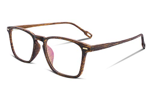 TEN-G Wooden TR90 Frame Glasses Square Optical Eyewear Frame B2284 (1)