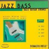 Thomastik Saiten für E-Bass Jazz Bass Serie Nickel Round Wound Roundcore Satz JR324 4-string roundwound short scale 32