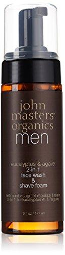 JOHN MASTERS ORGANICS Mousse Nettoyante/Rasage à l'Eucalyptus/Agave, 177ml