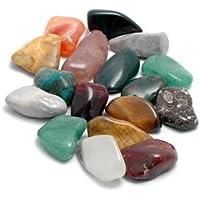 Edelsteine, 20 verschiedene Trommelsteine poliert, Größe 2 bis 3 cm