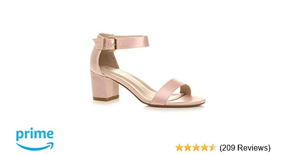 0745f50cfbb48 Womens Ladies Low mid Block Heel peep Toe Buckle Ankle Strap Party Strappy  Sandals Shoes Size