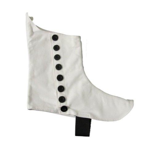 Gamaschen für Kilt-Halbschuhe & Kilt-Stiefel - Highland-Design - Weiß - 45 (Kilt Weiße)