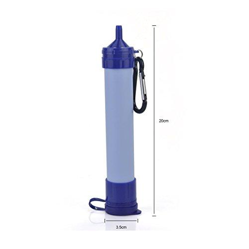 Tragbare Wasseraufbereitungssystem im Freien Überlebens -Werkzeug Notfall Camping Wandern Personal Wasserfilter mit 3-Stufen-Filtration (Chemical, BPA-frei) - 5