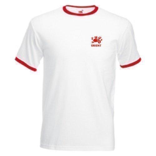 Preisvergleich Produktbild Fußballteam T-Shirt Leyton Orient FC im Retro Stil für Erwachsene - Größe M Weiß